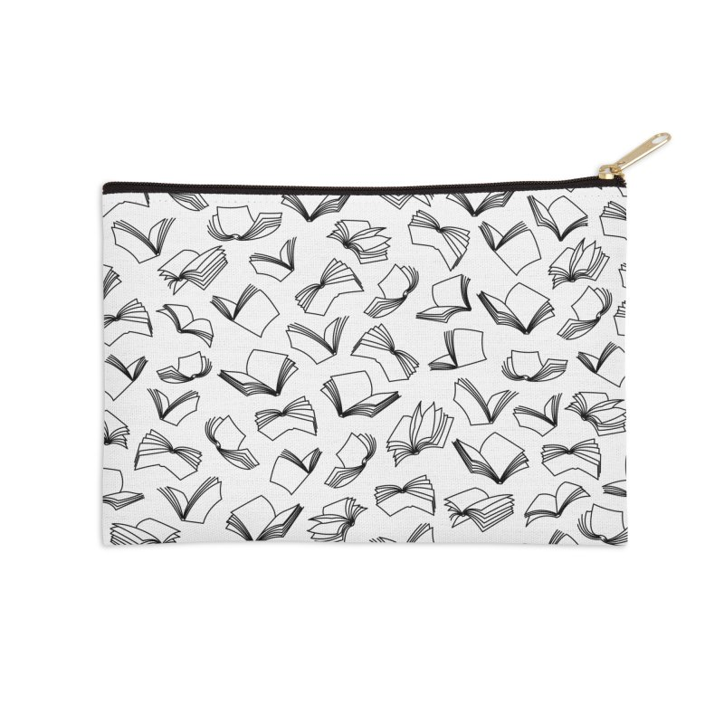 Bookaholic Dreams II Accessories Zip Pouch by Grandio Design Artist Shop