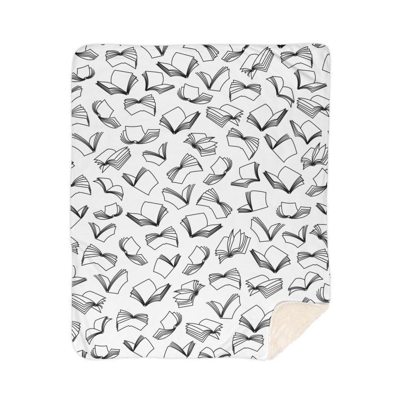 Bookaholic Dreams II Home Sherpa Blanket Blanket by Grandio Design Artist Shop
