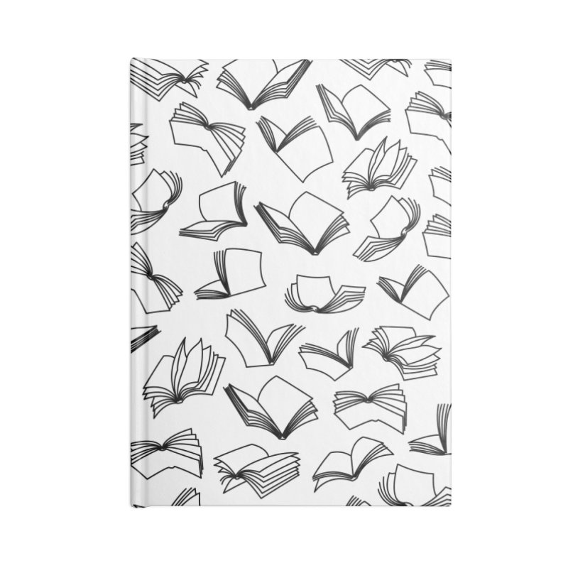 Bookaholic Dreams II Accessories Lined Journal Notebook by Grandio Design Artist Shop