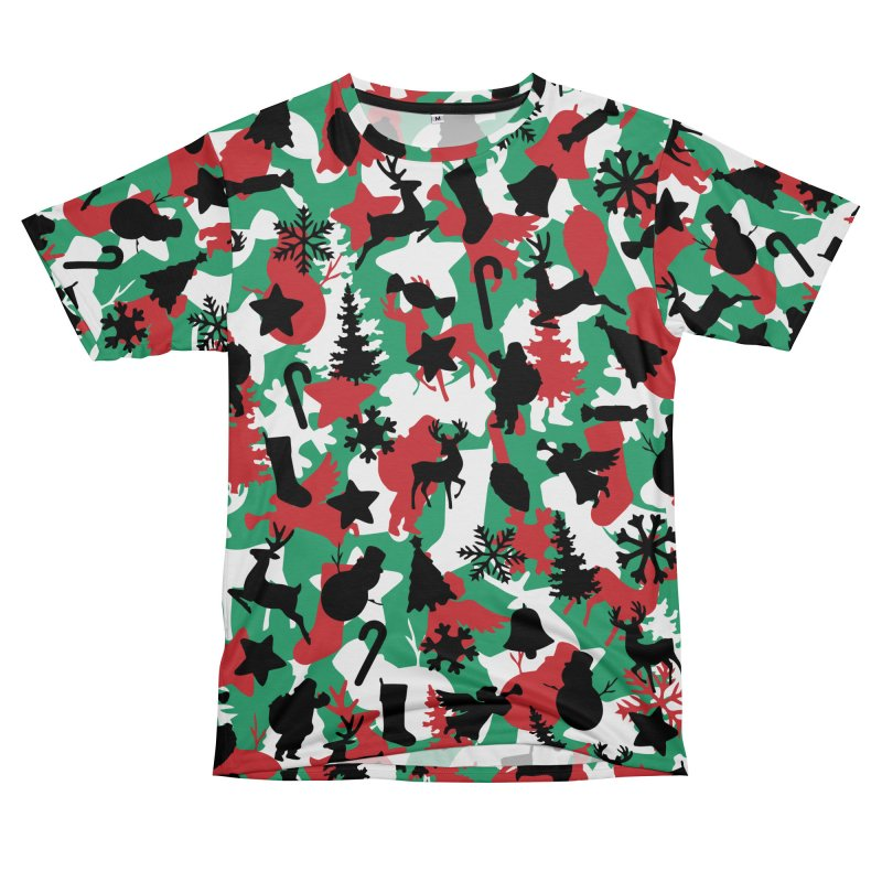 Christmas Camo WINTER WOODLAND Men's T-Shirt Cut & Sew by Grandio Design Artist Shop