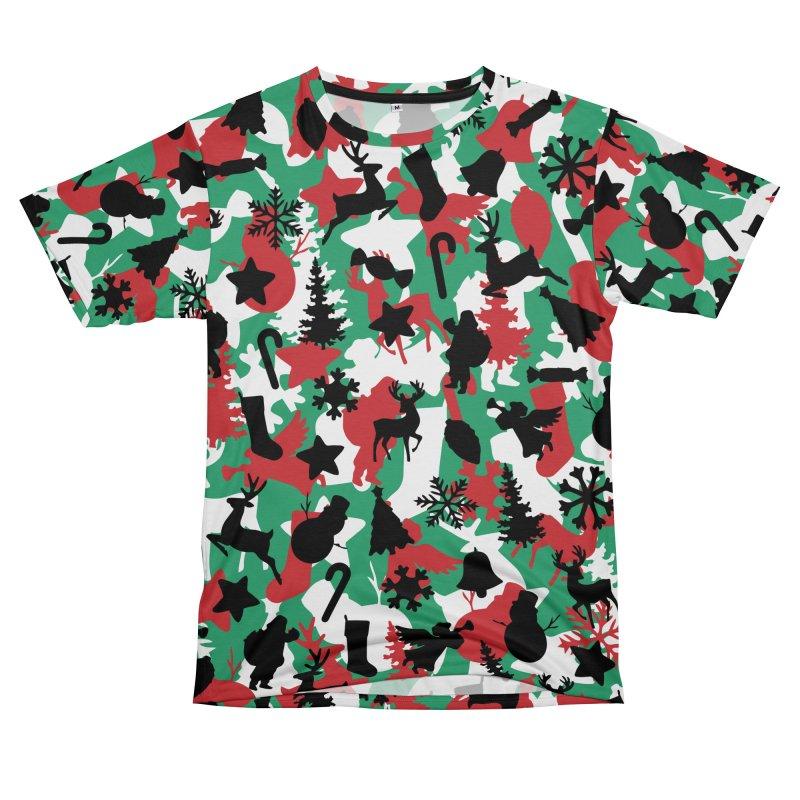 Christmas Camo WINTER WOODLAND Women's Unisex T-Shirt Cut & Sew by Grandio Design Artist Shop