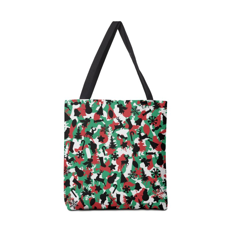 Christmas Camo WINTER WOODLAND Accessories Tote Bag Bag by Grandio Design Artist Shop