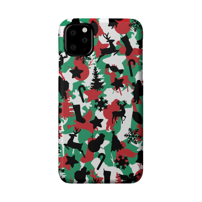 Christmas Camo WINTER WOODLAND Accessories Phone Case by Grandio Design Artist Shop