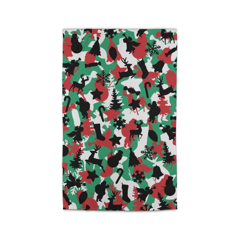 Christmas Camo WINTER WOODLAND Home Rug by Grandio Design Artist Shop