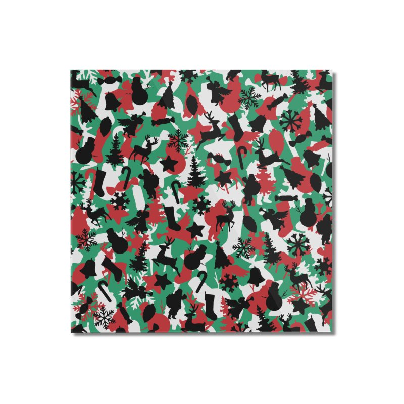 Christmas Camo WINTER WOODLAND Home Mounted Acrylic Print by Grandio Design Artist Shop