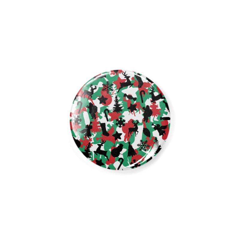 Christmas Camo WINTER WOODLAND Accessories Button by Grandio Design Artist Shop
