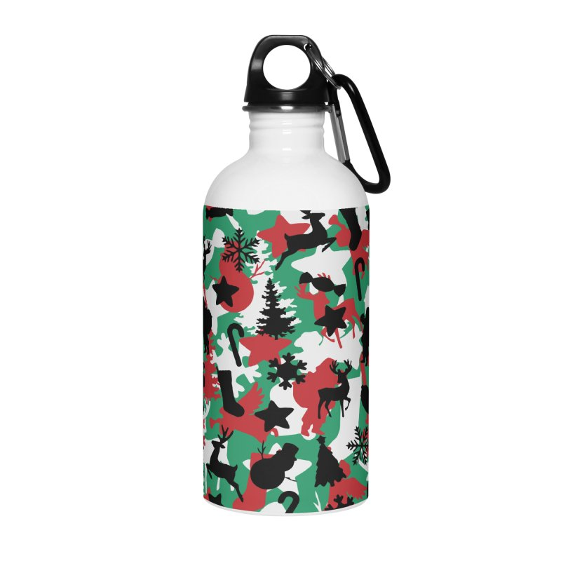 Christmas Camo WINTER WOODLAND Accessories Water Bottle by Grandio Design Artist Shop