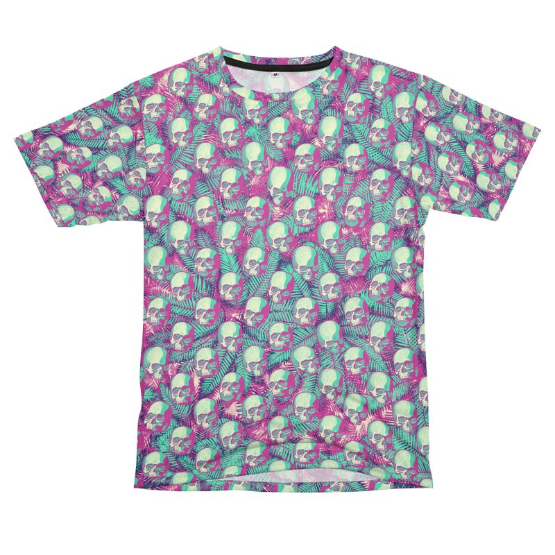 Kawaii Hawaii Goth Skulls Men's T-Shirt Cut & Sew by Grandio Design Artist Shop