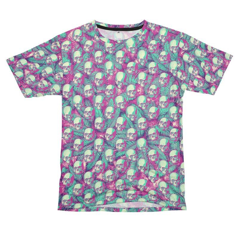 Kawaii Hawaii Goth Skulls Women's Unisex T-Shirt Cut & Sew by Grandio Design Artist Shop