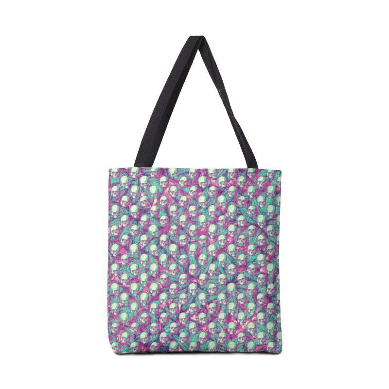 Kawaii Hawaii Goth Skulls Accessories Tote Bag Bag by Grandio Design Artist Shop