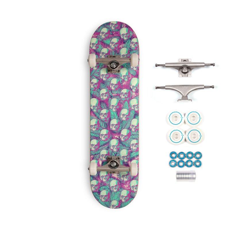 Kawaii Hawaii Goth Skulls Accessories Complete - Basic Skateboard by Grandio Design Artist Shop