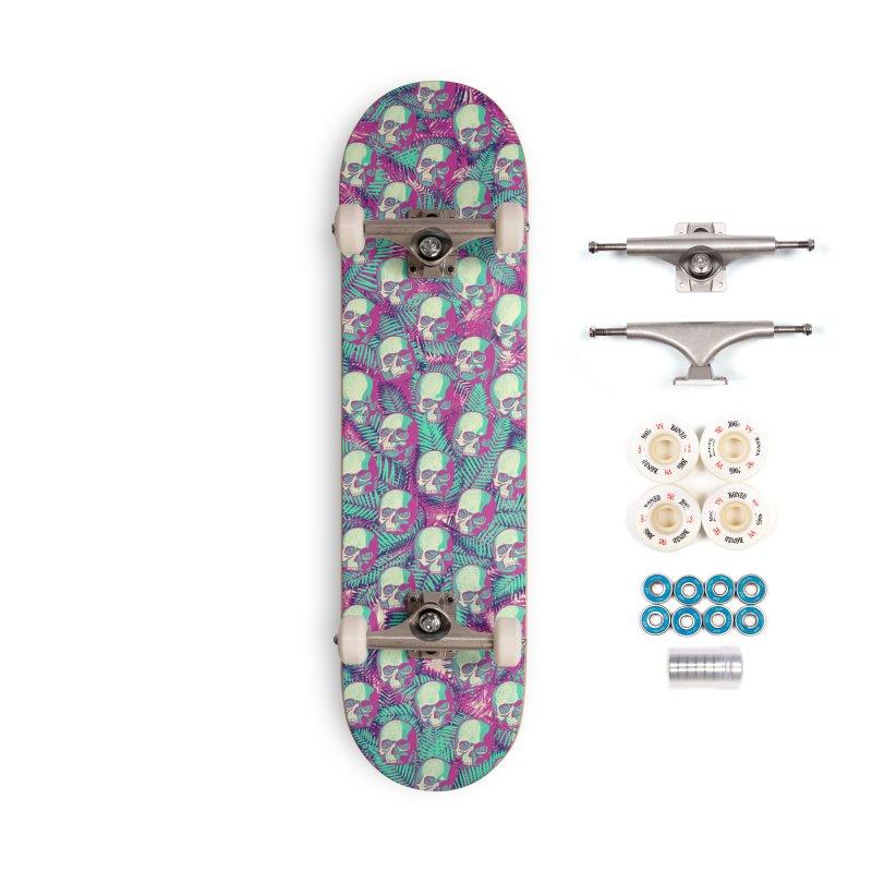 Kawaii Hawaii Goth Skulls Accessories Complete - Premium Skateboard by Grandio Design Artist Shop