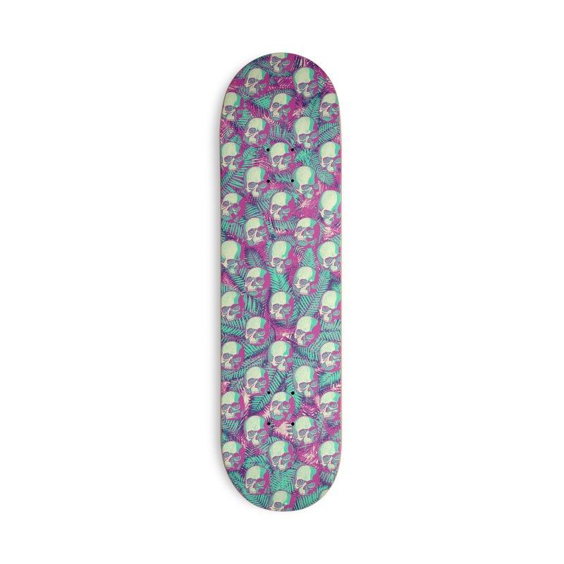 Kawaii Hawaii Goth Skulls Accessories Deck Only Skateboard by Grandio Design Artist Shop