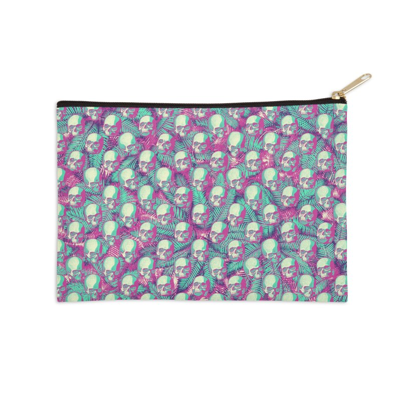 Kawaii Hawaii Goth Skulls Accessories Zip Pouch by Grandio Design Artist Shop