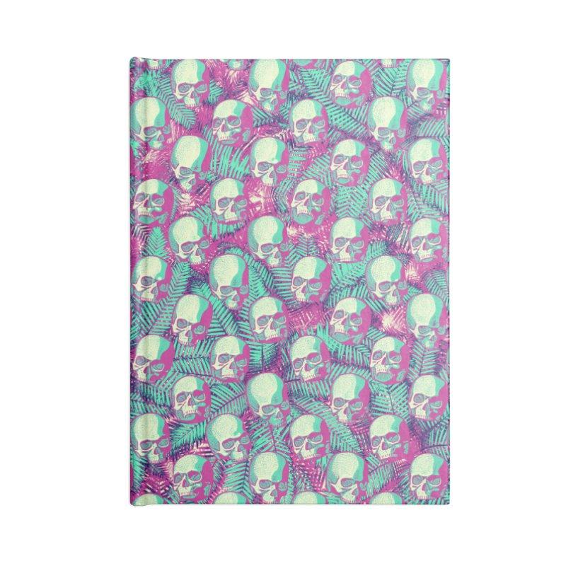Kawaii Hawaii Goth Skulls Accessories Lined Journal Notebook by Grandio Design Artist Shop