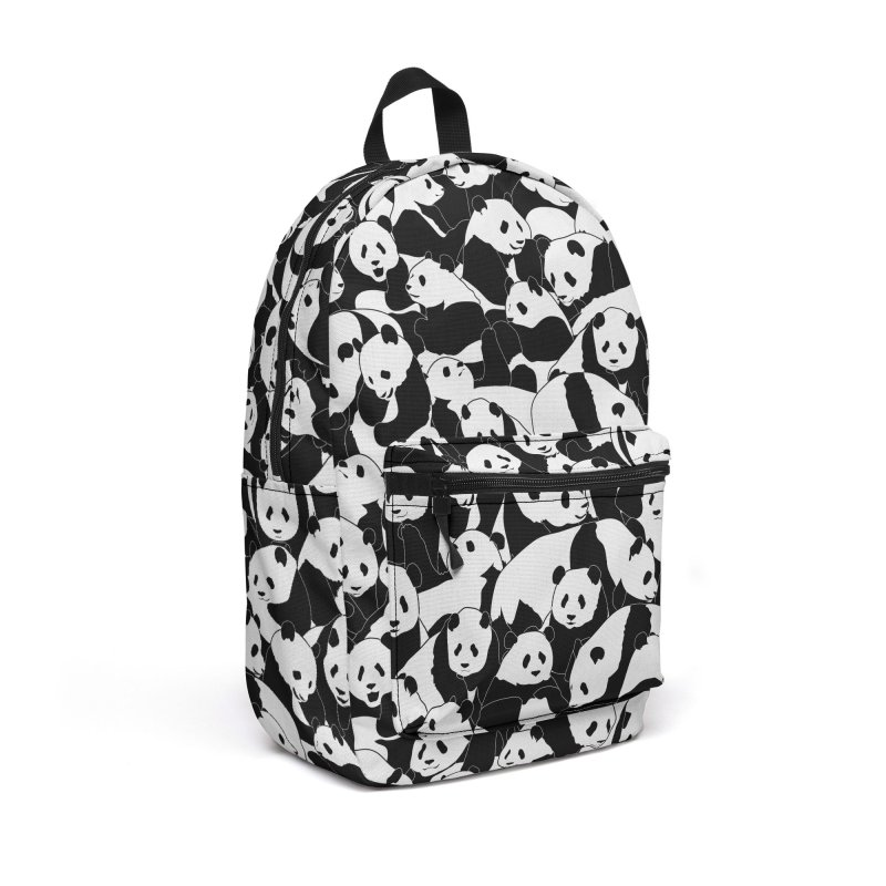 Less Hate More Panda Accessories Backpack Bag by Grandio Design Artist Shop