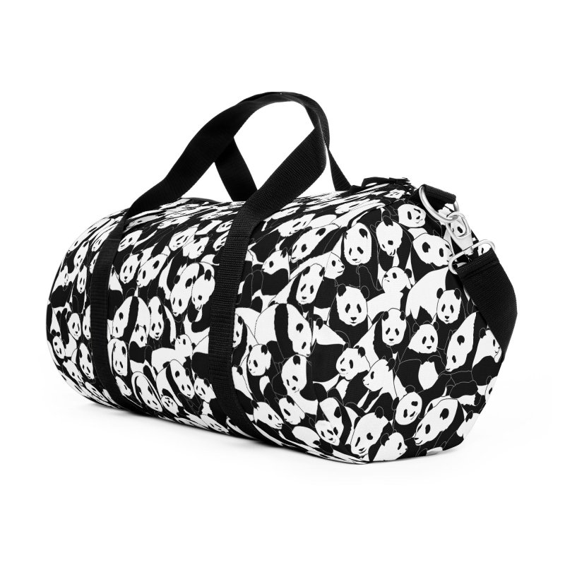 Less Hate More Panda Accessories Duffel Bag Bag by Grandio Design Artist Shop