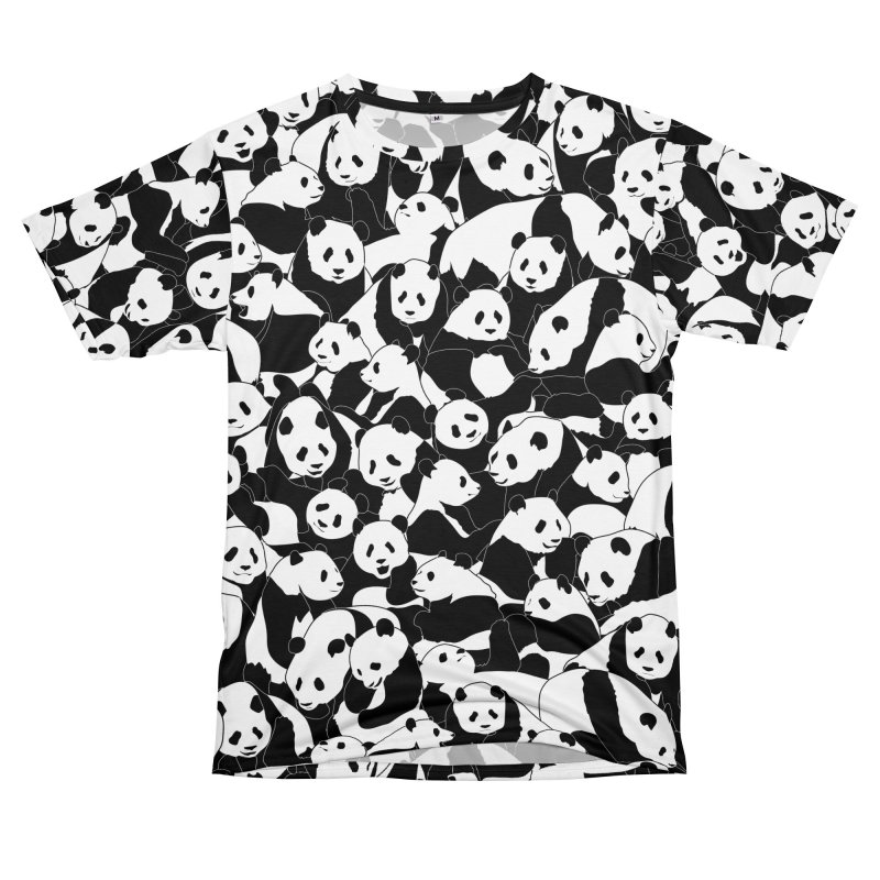 Less Hate More Panda Men's T-Shirt Cut & Sew by Grandio Design Artist Shop