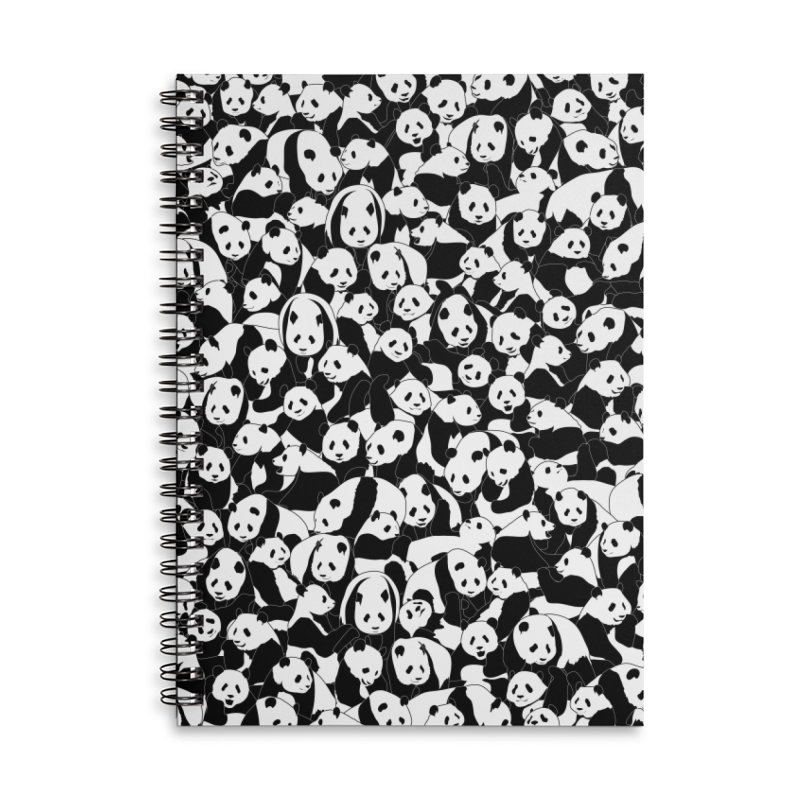 Less Hate More Panda Accessories Lined Spiral Notebook by Grandio Design Artist Shop