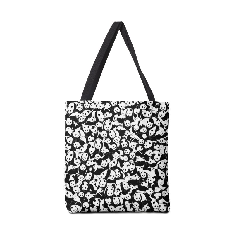 Less Hate More Panda Accessories Tote Bag Bag by Grandio Design Artist Shop