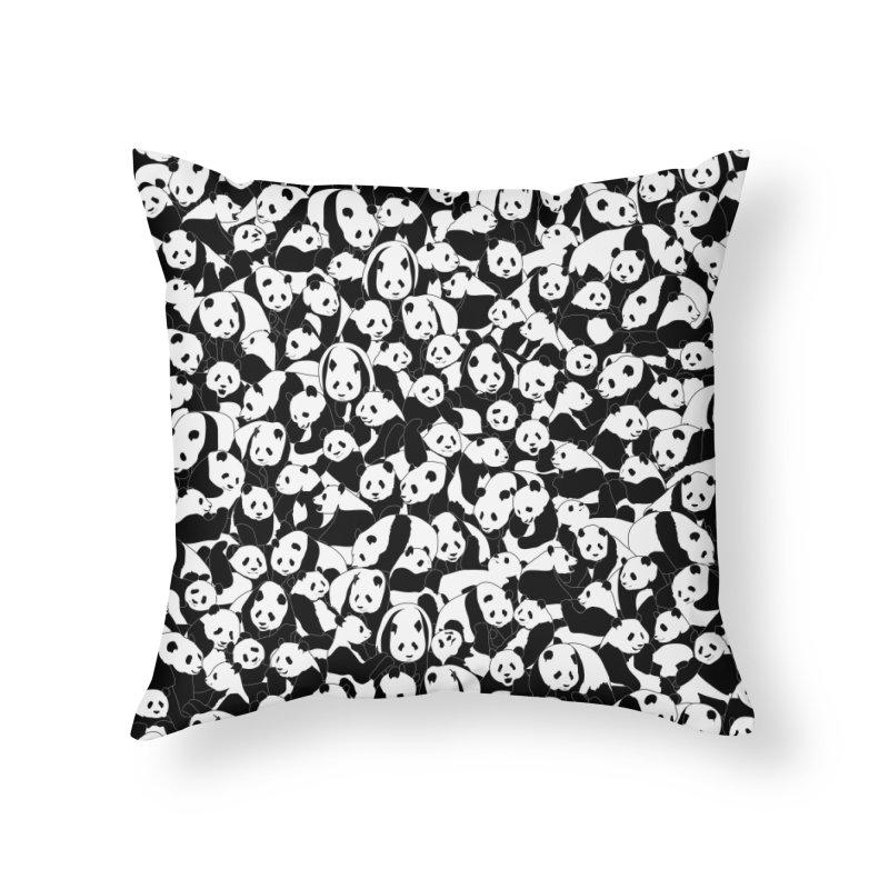 Less Hate More Panda Home Throw Pillow by Grandio Design Artist Shop
