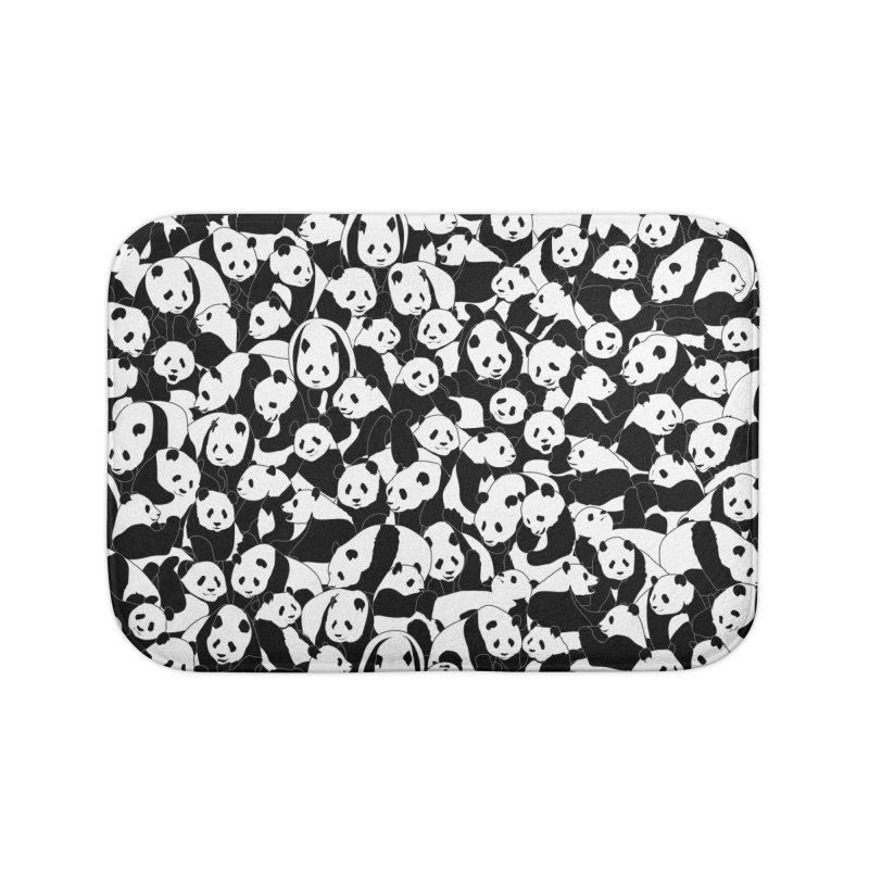 Less Hate More Panda Home Bath Mat by Grandio Design Artist Shop