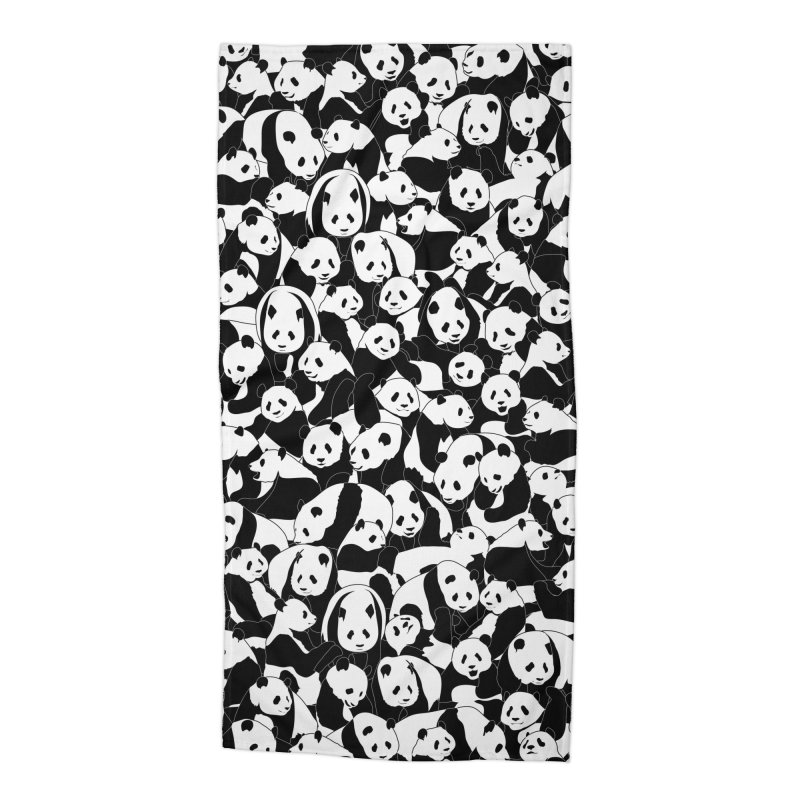 Less Hate More Panda Accessories Beach Towel by Grandio Design Artist Shop