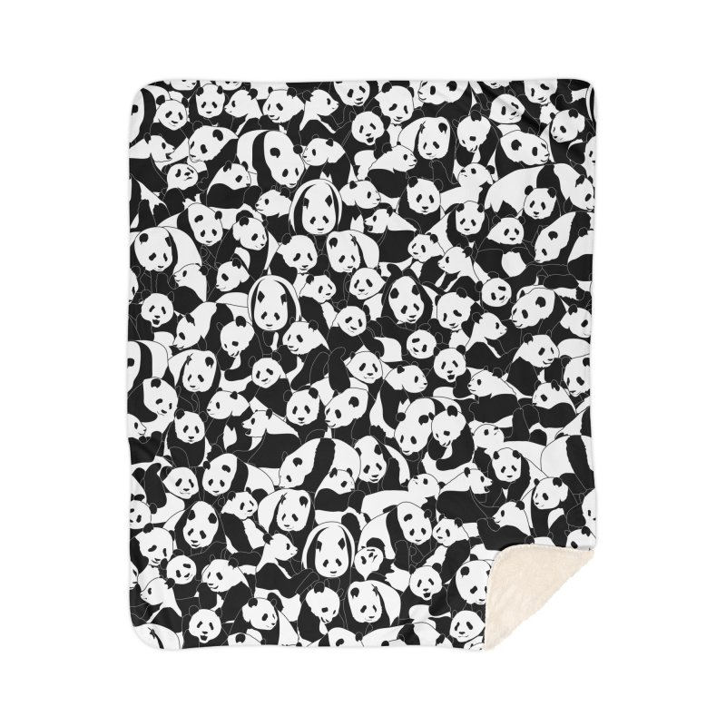 Less Hate More Panda Home Sherpa Blanket Blanket by Grandio Design Artist Shop