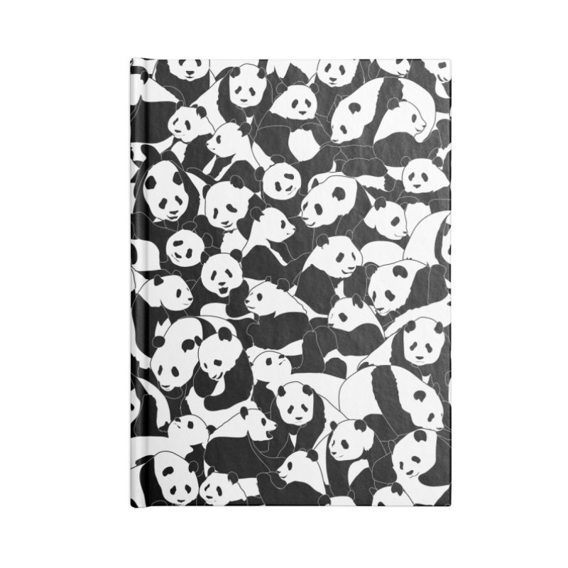 Less Hate More Panda Accessories Lined Journal Notebook by Grandio Design Artist Shop