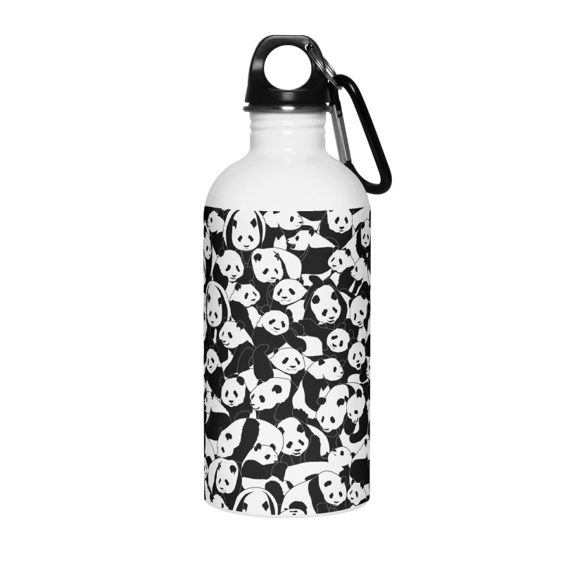 Less Hate More Panda Accessories Water Bottle by Grandio Design Artist Shop