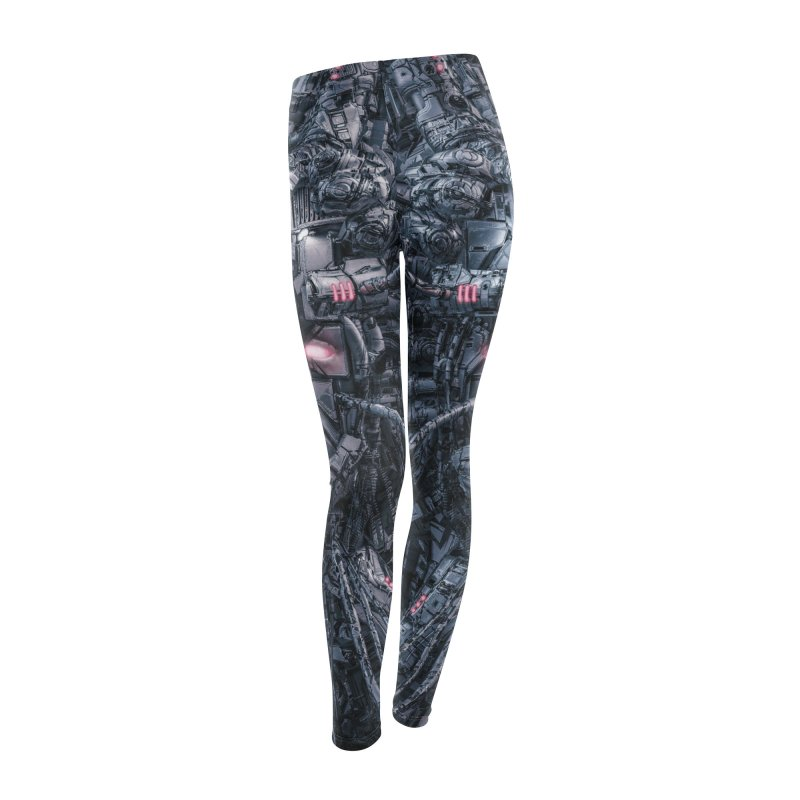 Digital Goddess Reloaded Women's Leggings Bottoms by Grandio Design Artist Shop