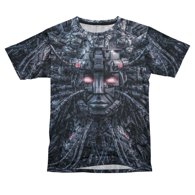 Digital Goddess Reloaded Women's Unisex T-Shirt Cut & Sew by Grandio Design Artist Shop