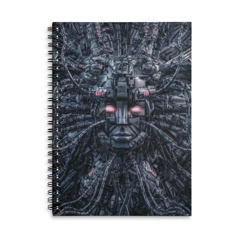 Digital Goddess Reloaded Accessories Lined Spiral Notebook by Grandio Design Artist Shop