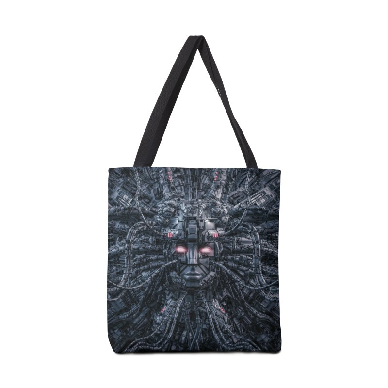 Digital Goddess Reloaded Accessories Tote Bag Bag by Grandio Design Artist Shop
