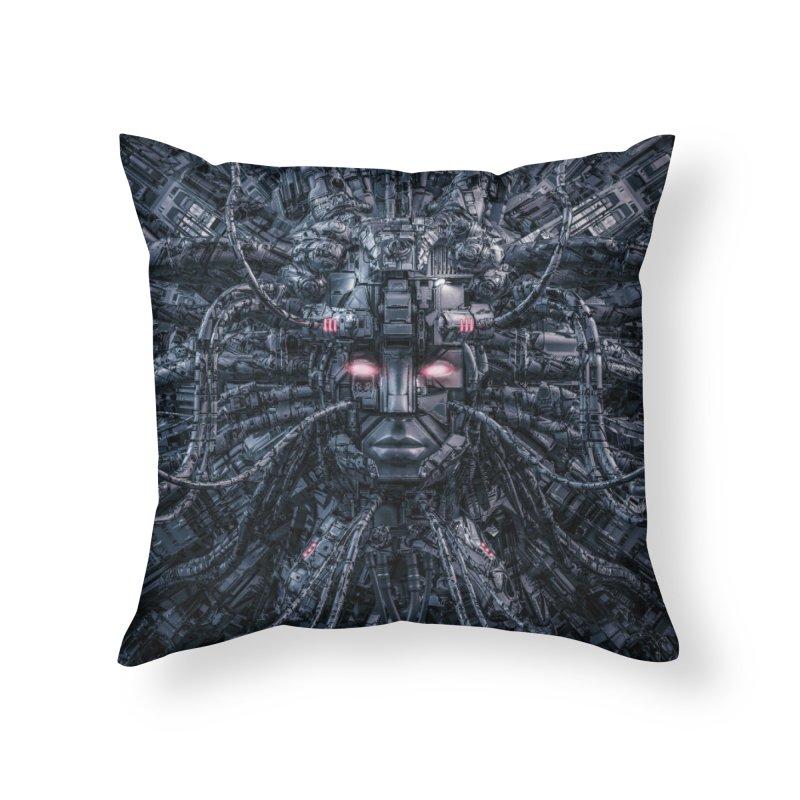 Digital Goddess Reloaded Home Throw Pillow by Grandio Design Artist Shop