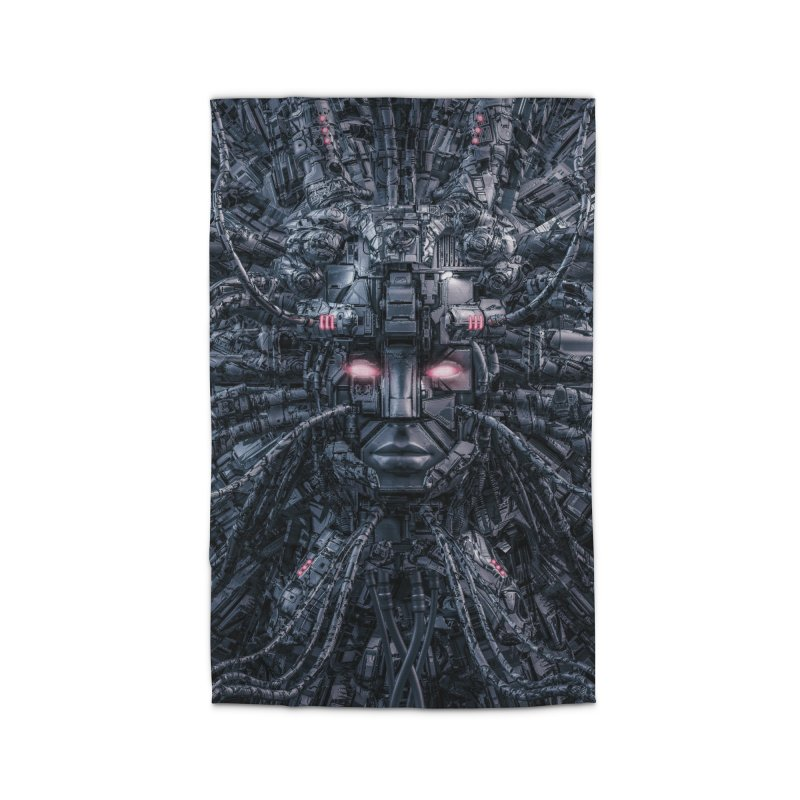 Digital Goddess Reloaded Home Rug by Grandio Design Artist Shop