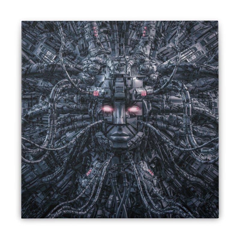 Digital Goddess Reloaded Home Stretched Canvas by Grandio Design Artist Shop
