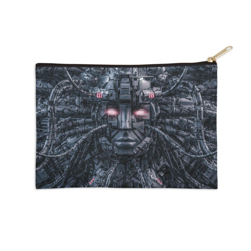 Digital Goddess Reloaded Accessories Zip Pouch by Grandio Design Artist Shop