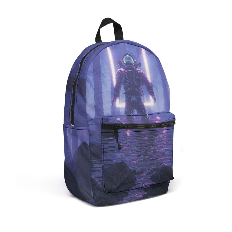 Lost In The Neon Jungle Accessories Backpack Bag by Grandio Design Artist Shop