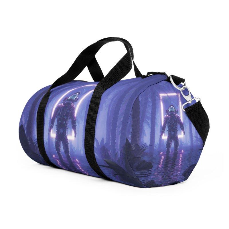 Lost In The Neon Jungle Accessories Duffel Bag Bag by Grandio Design Artist Shop