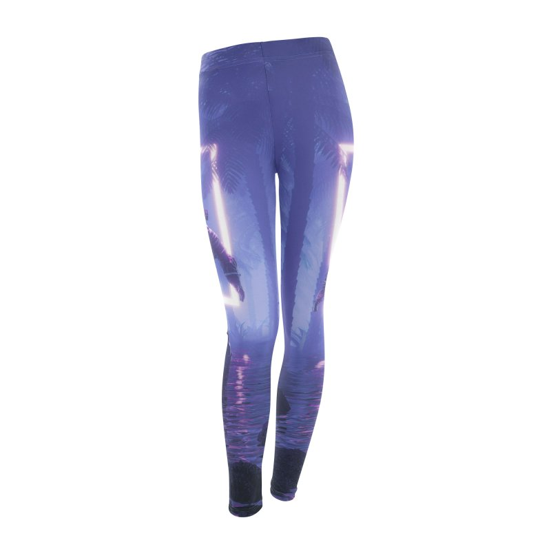 Lost In The Neon Jungle Women's Leggings Bottoms by Grandio Design Artist Shop