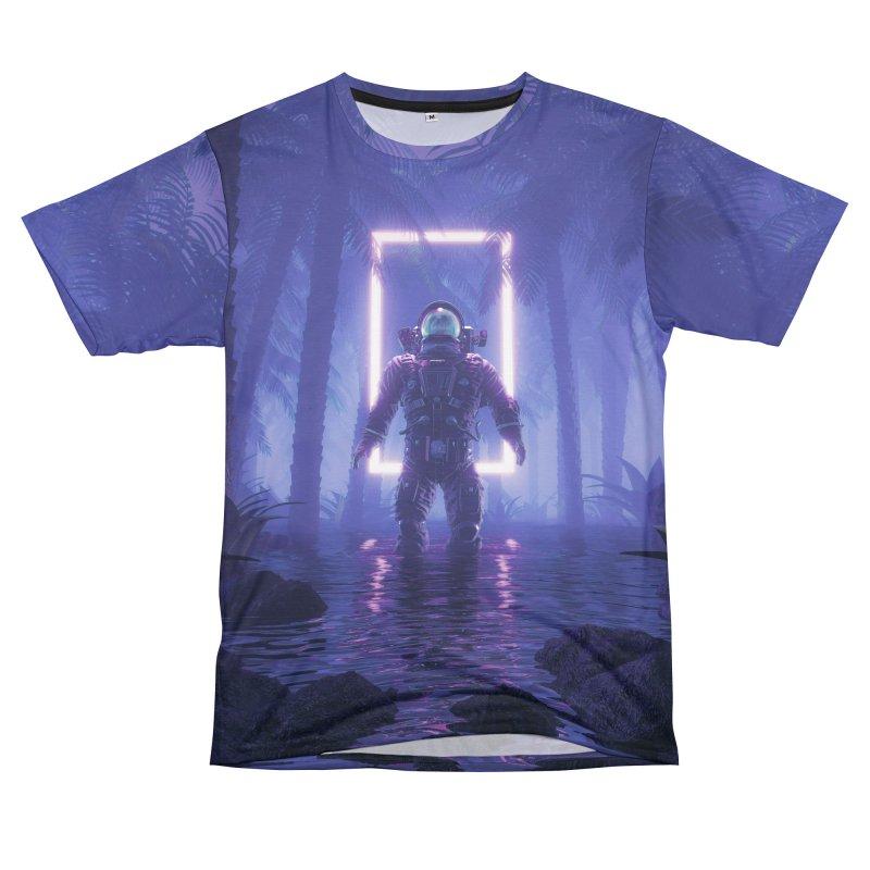 Lost In The Neon Jungle Women's Unisex T-Shirt Cut & Sew by Grandio Design Artist Shop