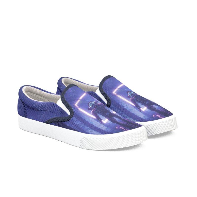 Lost In The Neon Jungle Women's Slip-On Shoes by Grandio Design Artist Shop
