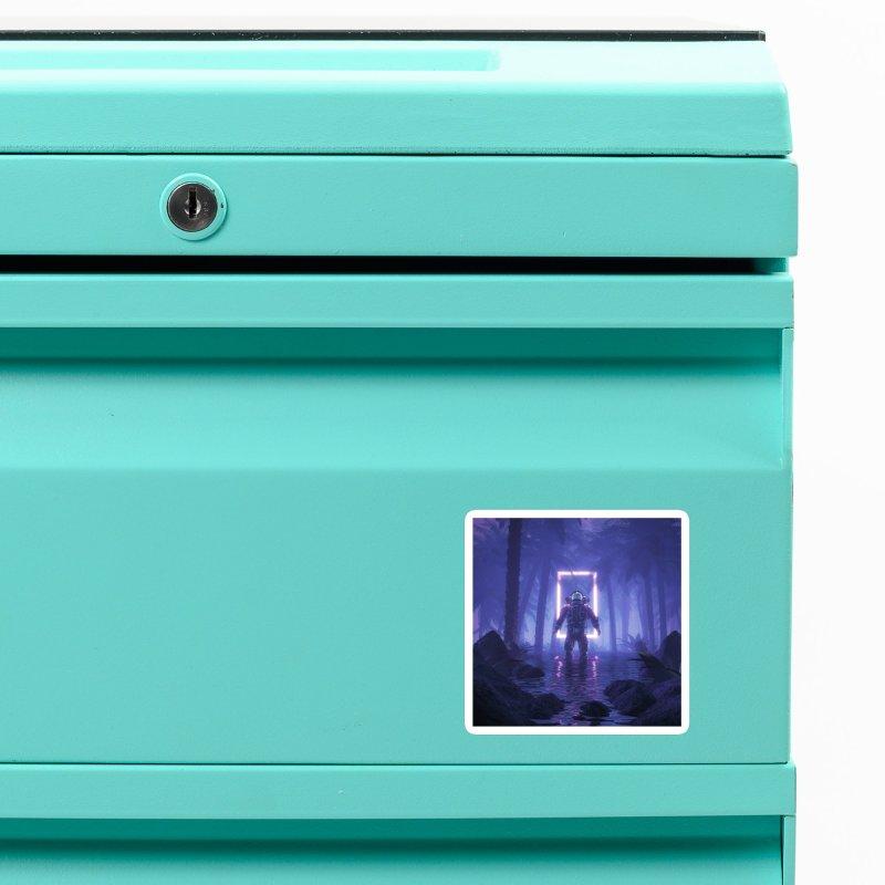 Lost In The Neon Jungle Accessories Magnet by Grandio Design Artist Shop