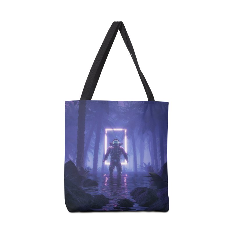 Lost In The Neon Jungle Accessories Tote Bag Bag by Grandio Design Artist Shop