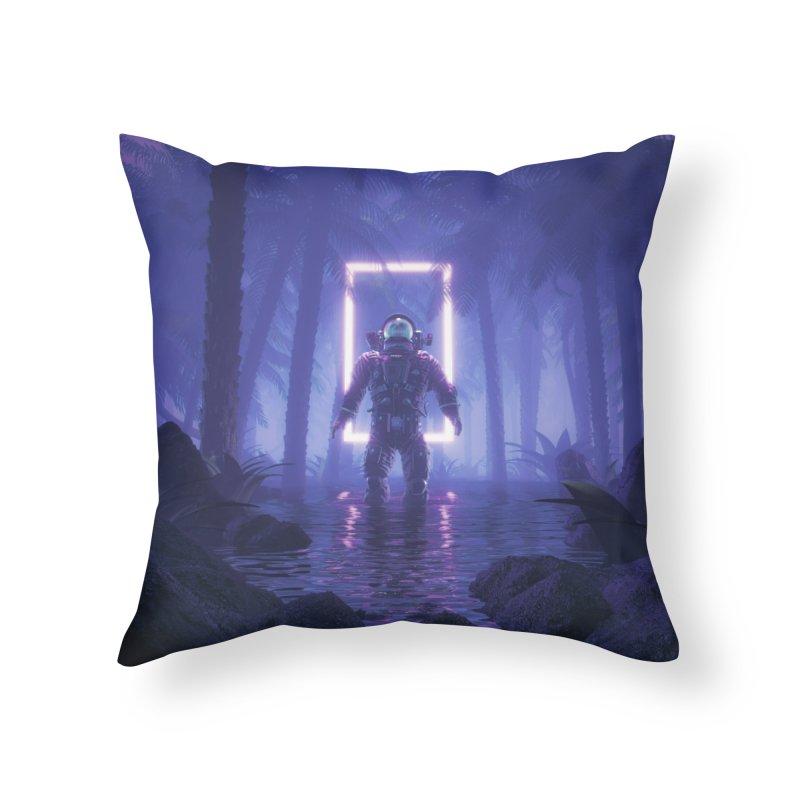 Lost In The Neon Jungle Home Throw Pillow by Grandio Design Artist Shop