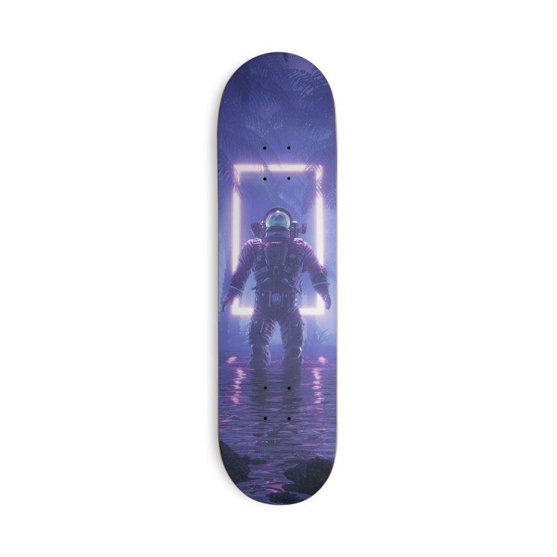 Lost In The Neon Jungle Accessories Deck Only Skateboard by Grandio Design Artist Shop