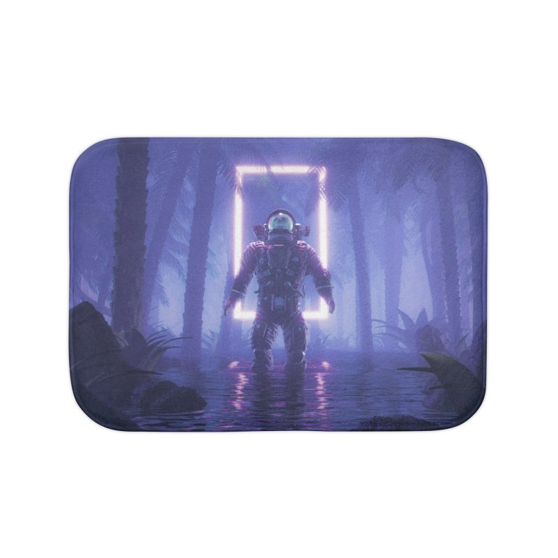 Lost In The Neon Jungle Home Bath Mat by Grandio Design Artist Shop