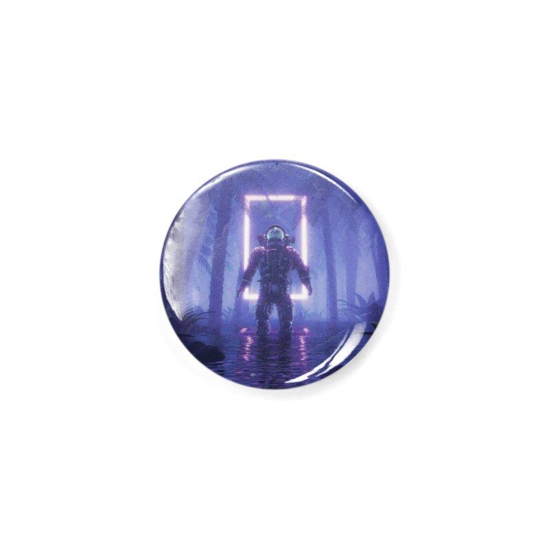 Lost In The Neon Jungle Accessories Button by Grandio Design Artist Shop