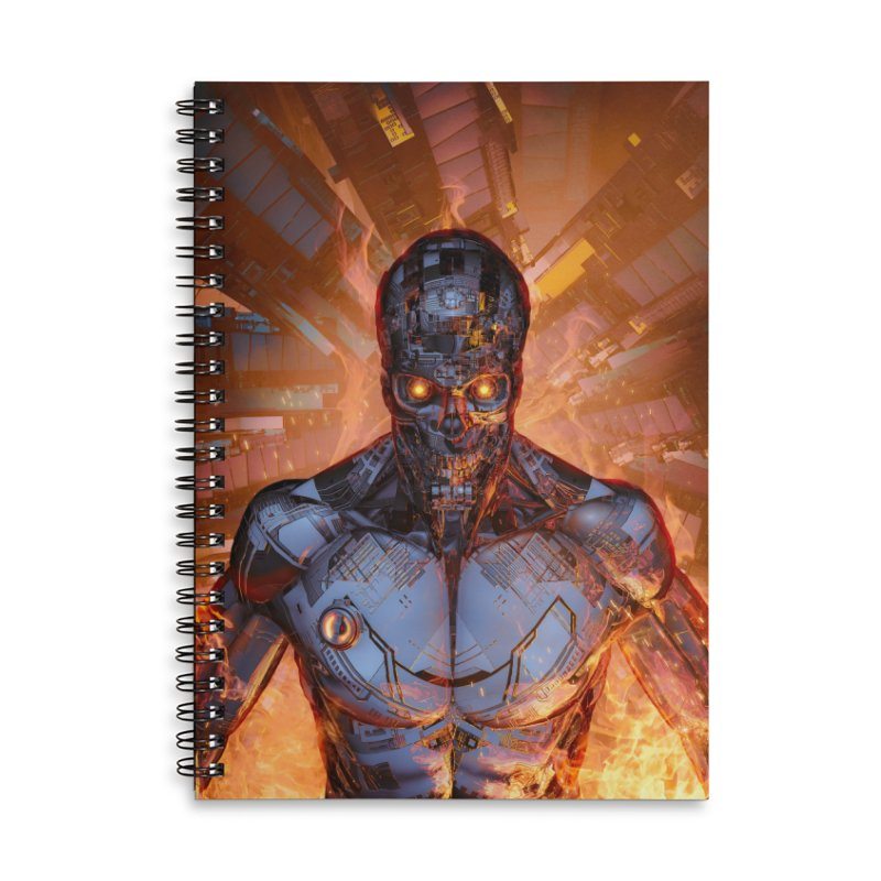 The Fury Accessories Lined Spiral Notebook by Grandio Design Artist Shop